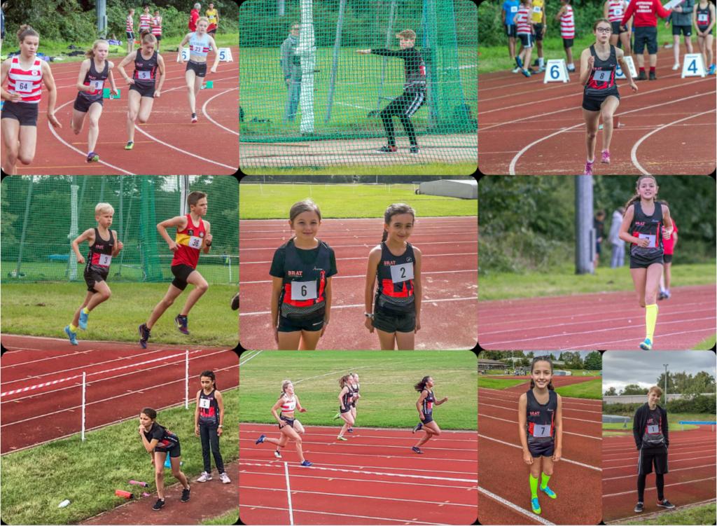Junior athletes collage
